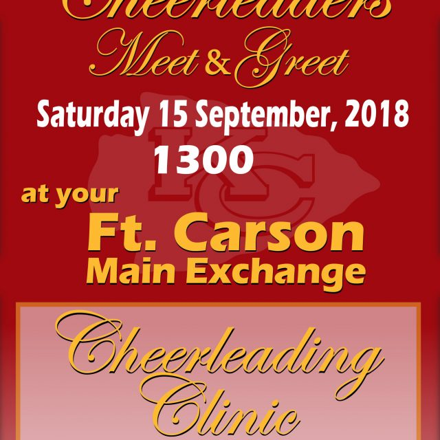 Ft. Carson CHIEFS Cheerleaders Meet&Greet