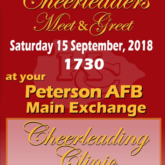 Peterson AFB CHIEFS Cheerleaders Meet&Greet